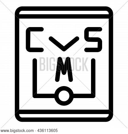 Cms Paper Icon Outline Vector. Code System. Website Html