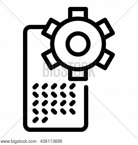 Smartphone Software Icon Outline Vector. Cms Web. Code System