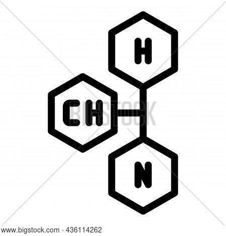 Chemical Formula Icon Outline Vector. Lab Science. Chemistry Test