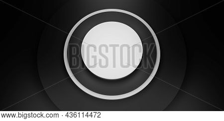 Black Circle Display Stand Ring Frame Background Circle Plinth 3d Illustration