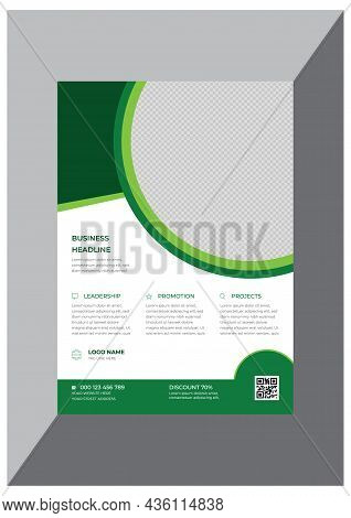 Green Creative Corporate Business Flyer Design Template