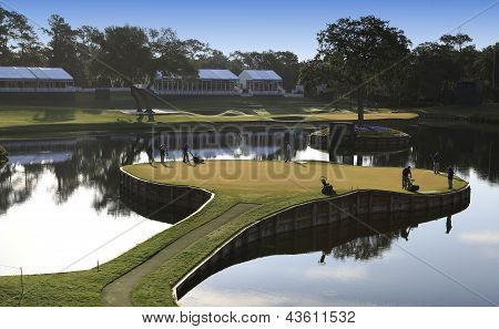 Hole 17  at The Players Championship 2012