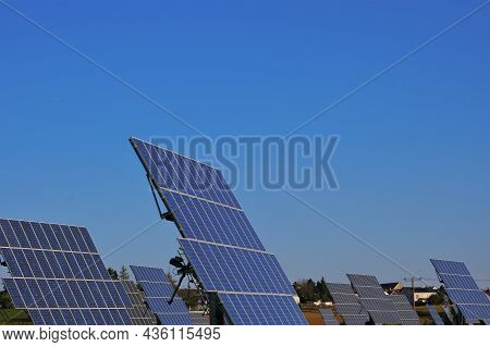 Solar Energy. Renewable Energy.solar Power Farm.solar Panels Field. Renewable Energy From Nature.sol