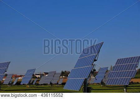 Solar Energy. Renewable Energy.solar Power Farm.solar Panels Field. Renewable Energy From Nature. Al