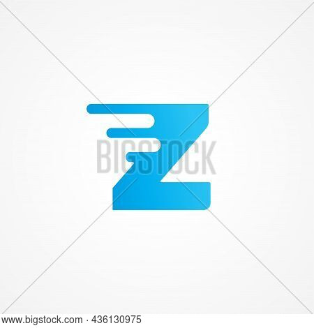 Letter Z Streaking With Fluid Effect. Initial Alphabet Logo Design Template Suitable For Kids Produc