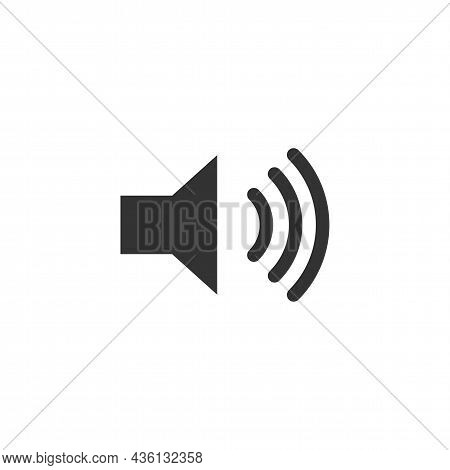 Audio Speaker Volume Related Glyph Vector Icon For Apps And Websites. Speaker Sign. Volume Symbol. L