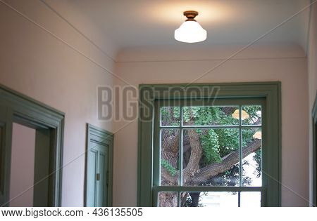Ceiling Light In A Room With A Window