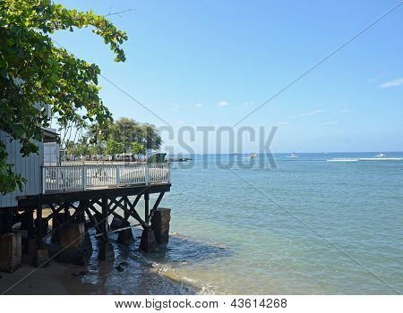 Waterfront Pier In Lahaina, Maui