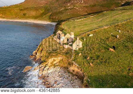 The Remains Of The 1790 To 1805 Kelp Factory Teach Dearg Or The Red House At Crohy Head Near Maghery