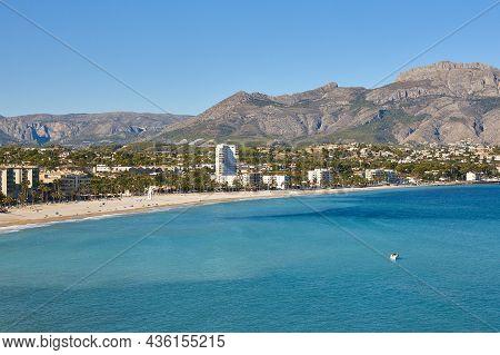 Picturesque Mediterranean Spanish Coastline In Altea. Alicante, Valencia. Spain