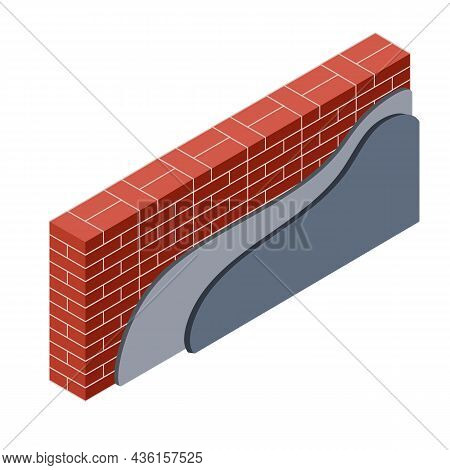 Red Brick Wall With Layers Of Plaster