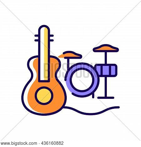 Musical Talent Rgb Color Icon. Playing Musical Instruments. Gifted Musician. Classical Music Perform