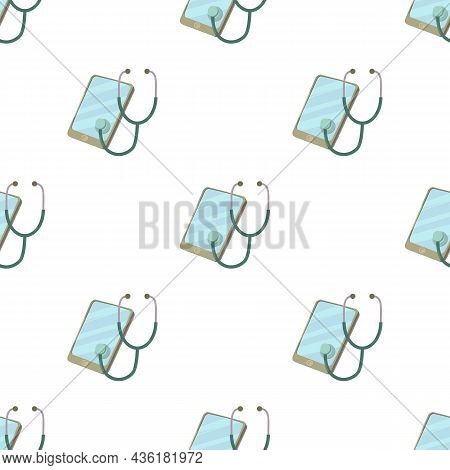 Smartphone Diagnostic Pattern Seamless Background Texture Repeat Wallpaper Geometric Vector
