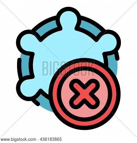 Antibiotic Resistance Icon. Outline Antibiotic Resistance Vector Icon Color Flat Isolated