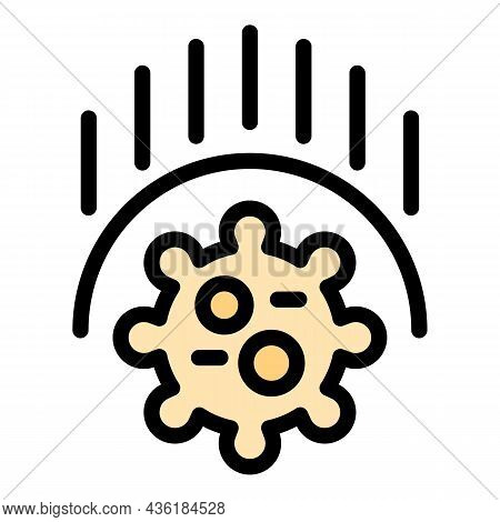 Antibacterial Defence Icon. Outline Antibacterial Defence Vector Icon Color Flat Isolated