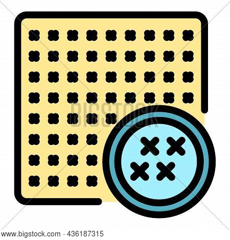 Protection Cipher Icon. Outline Protection Cipher Vector Icon Color Flat Isolated
