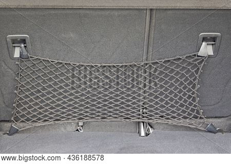 Elastic Cargo Net At Back Seats In Car Booth Storage
