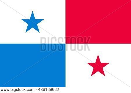 The State Flag Of Panama Is An Country That Links Central America And South America