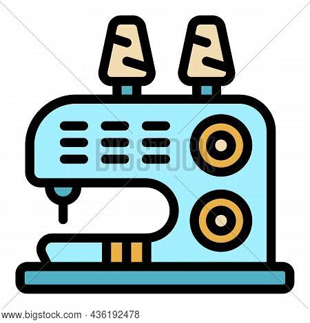 Sewing Device Icon. Outline Sewing Device Vector Icon Color Flat Isolated