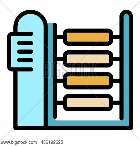 Textile Machinery Icon. Outline Textile Machinery Vector Icon Color Flat Isolated