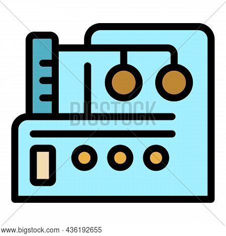 Textile Equipment Icon. Outline Textile Equipment Vector Icon Color Flat Isolated