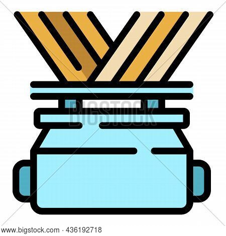 Thread Fabrication Icon. Outline Thread Fabrication Vector Icon Color Flat Isolated