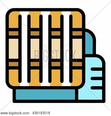 Thread Processing Icon. Outline Thread Processing Vector Icon Color Flat Isolated