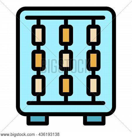 Automatic Textile Tool Icon. Outline Automatic Textile Tool Vector Icon Color Flat Isolated