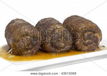 German homemade beef rolls
