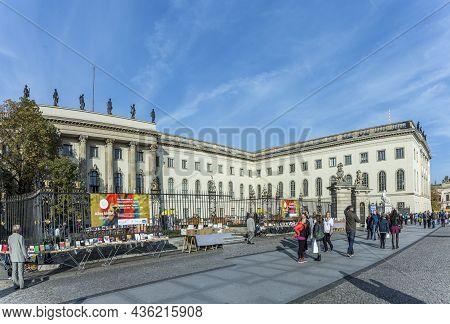 Berlin, Germany - October 27, 2014: View Of Humboldt University Of Berlin. Humboldt University Is On