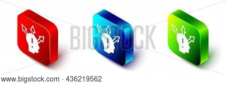 Isometric Project Team Base Icon Isolated On White Background. Business Analysis And Planning, Consu