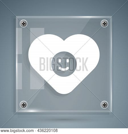 White Good Relationship Icon Isolated On Grey Background. Romantic Relationship Or Pleasant Meeting