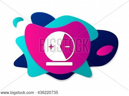 Color Atom Icon Isolated On White Background. Symbol Of Science, Education, Nuclear Physics, Scienti