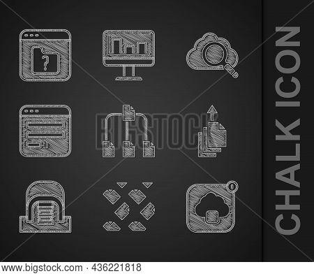 Set Folder Tree, Data Stream, Cloud Technology Data Transfer, Export, Hangar With Servers, Browser W