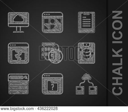 Set Network Cloud Connection, File Missing, Cloud Technology Data Transfer, Server, Data, Web Hostin