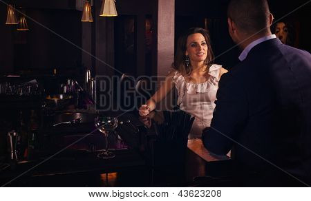 Dating Couple Having Conversation