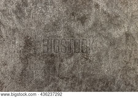 Textured Surface Of Old Gray Concrete Wall For Background. Copy Space. Selective Focus.