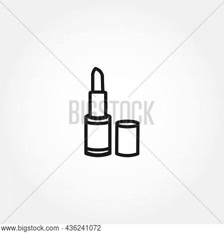 Lipstick Line Icon. Lipstick Isolated Line Icon