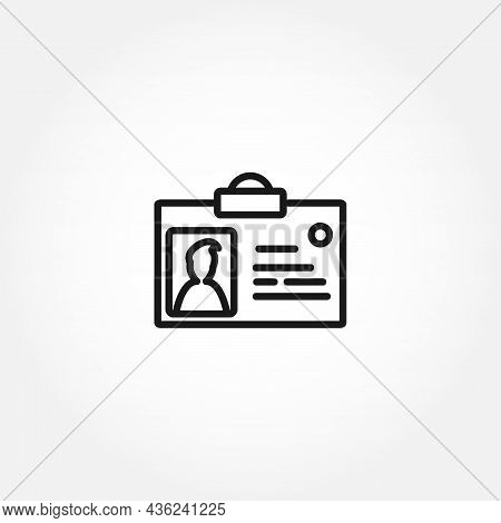 Identification Card Isolated Line Icon. Identification Card Isolated Line Icon.