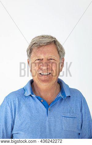 Portrait Of Smiling Attractive Handsome Senior Man