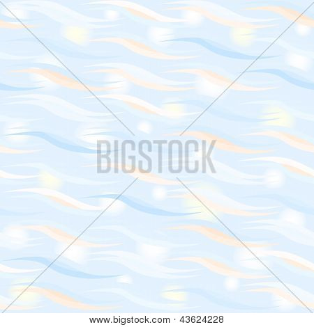 Vector seamless pattern with bright sparkling waves poster