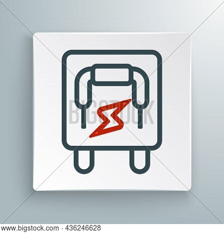 Line Electrical Panel Icon Isolated On White Background. Switch Lever. Colorful Outline Concept. Vec
