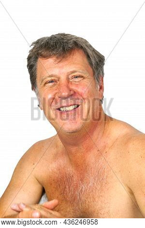 Portrait Of Attractive Looking Man With Open Breast