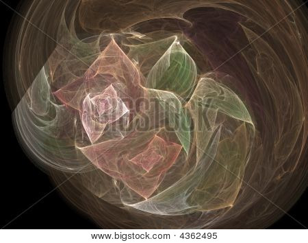 The smoked fractal in the form of bouquet poster