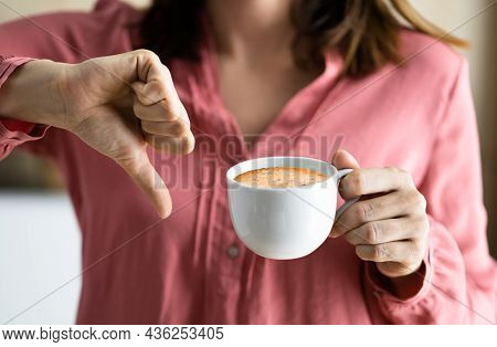 Avoid Coffee Bacause Of Heartburn. Stop Drinking And Refuse