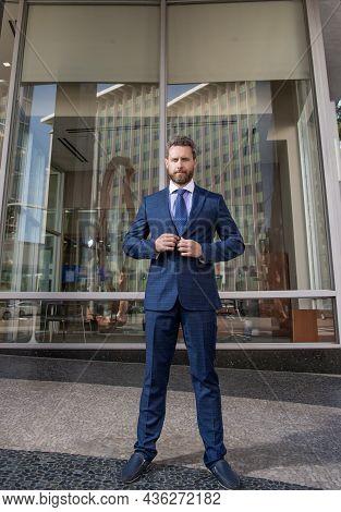 Mature Businessperson In Formalwear. Business Success. Successful Man In Businesslike Suit.