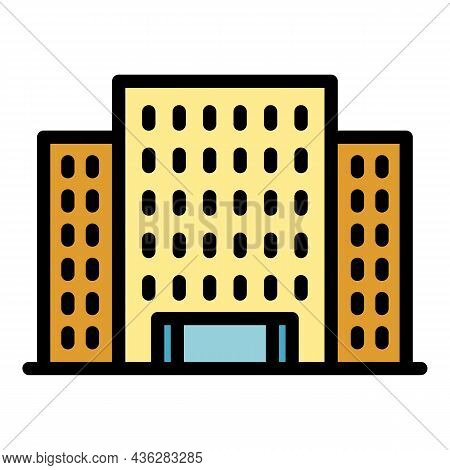 Architecture Campus Icon. Outline Architecture Campus Vector Icon Color Flat Isolated