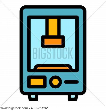 Automation Press Machine Icon. Outline Automation Press Machine Vector Icon Color Flat Isolated