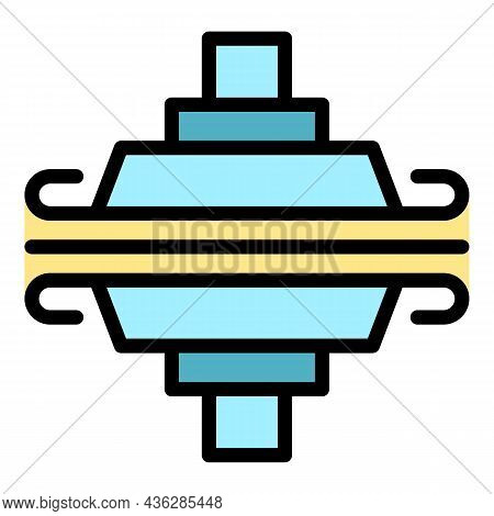 Plywood Industry Icon. Outline Plywood Industry Vector Icon Color Flat Isolated