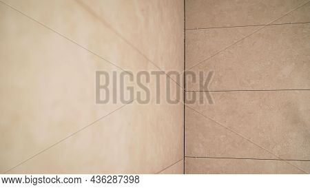 Bathroom Tiles On The Wall. Tiles On The Walls. Laying Tiles On Walls And Floor.
